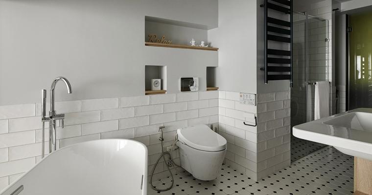 舒适三居室装修卫生间图片