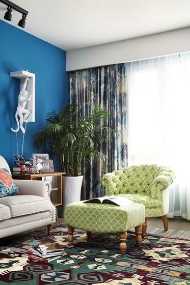 东南亚风格装修客厅沙发图片
