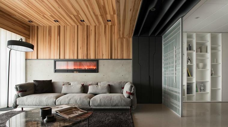 工业风大平层设计布艺沙发图片