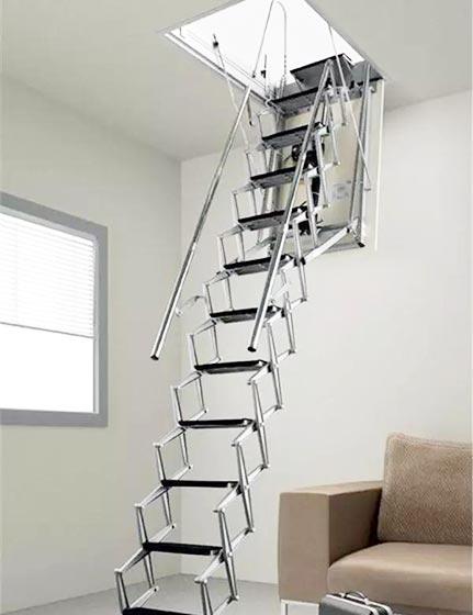 阁楼楼梯设计实景图