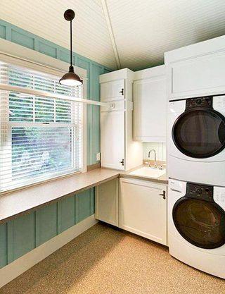 家庭洗衣房装修摆放图