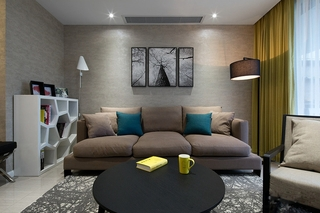 88平的幸福空间布艺沙发