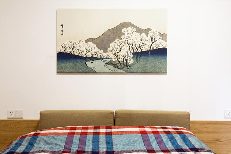 73㎡日式家装卧室构造图