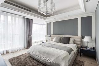 130平简约风格三居室卧室装潢图