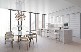 洁净空间大户型装修餐厅效果图