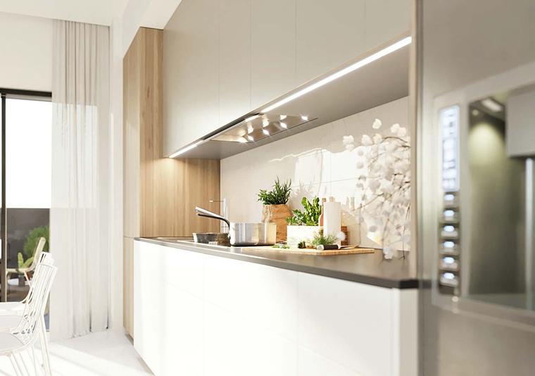 洁净空间大户型装修开放式厨房图片