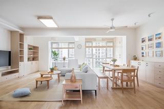 日式风格三居室装修大客厅装潢图
