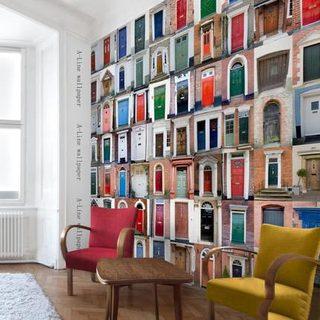 波普风背景墙装修装饰效果图