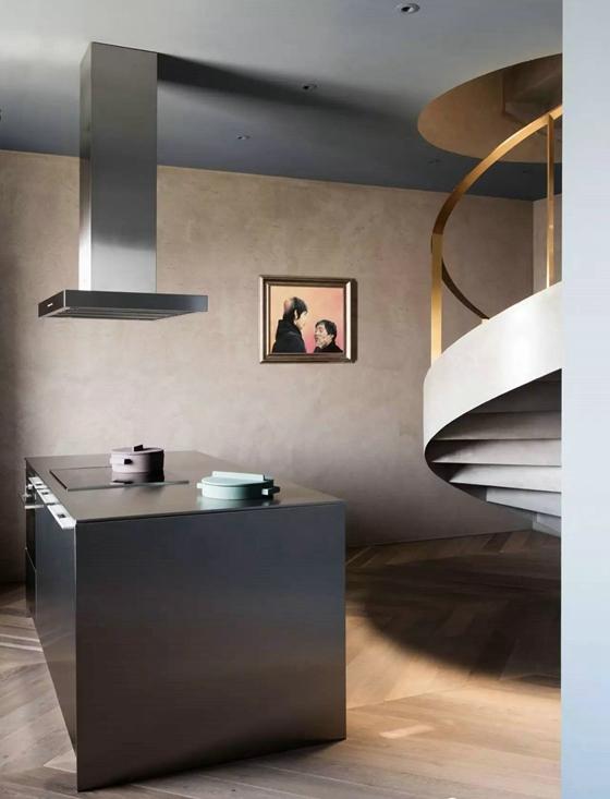 工业风格公寓装修厨房效果图