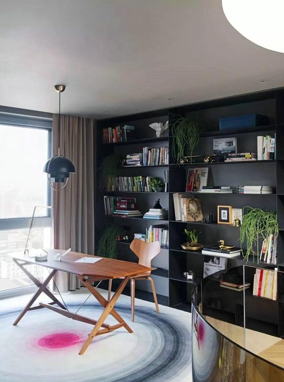 工业风格公寓装修书房效果图