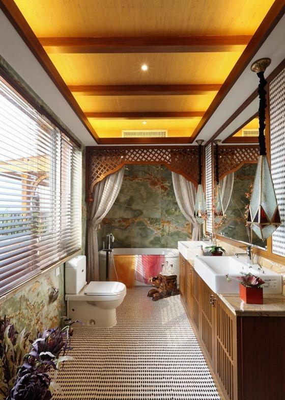 异域风格大户型装修卫生间图片
