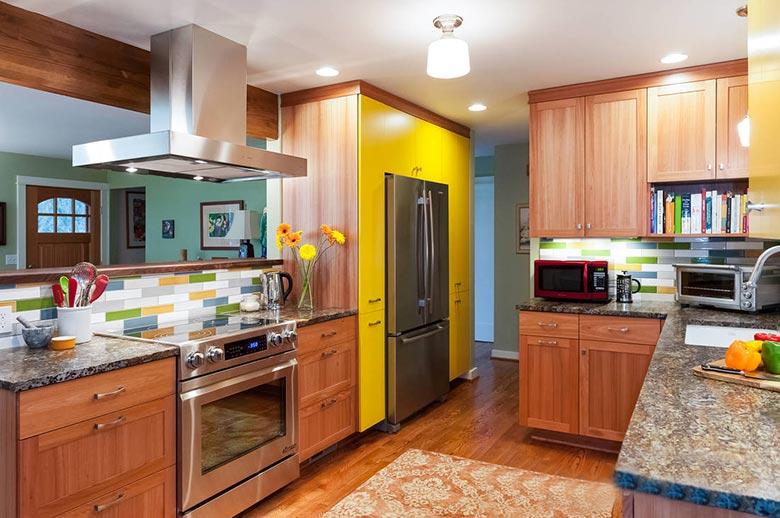 开放式厨房装修构造图