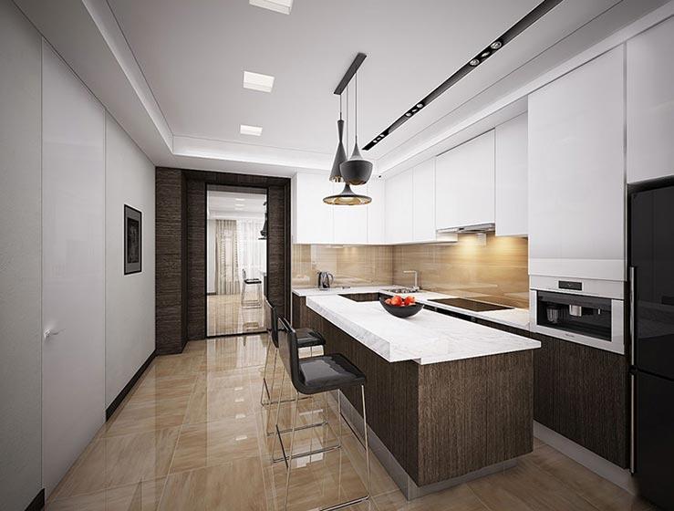开放式厨房装修装饰图