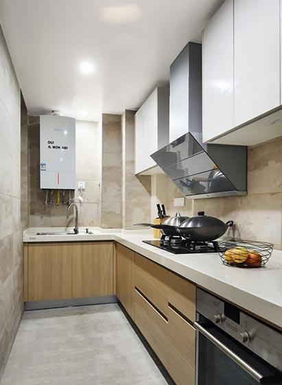 极简风开放式厨房布置图