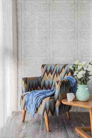 温润如玉的三居室装修单人沙发