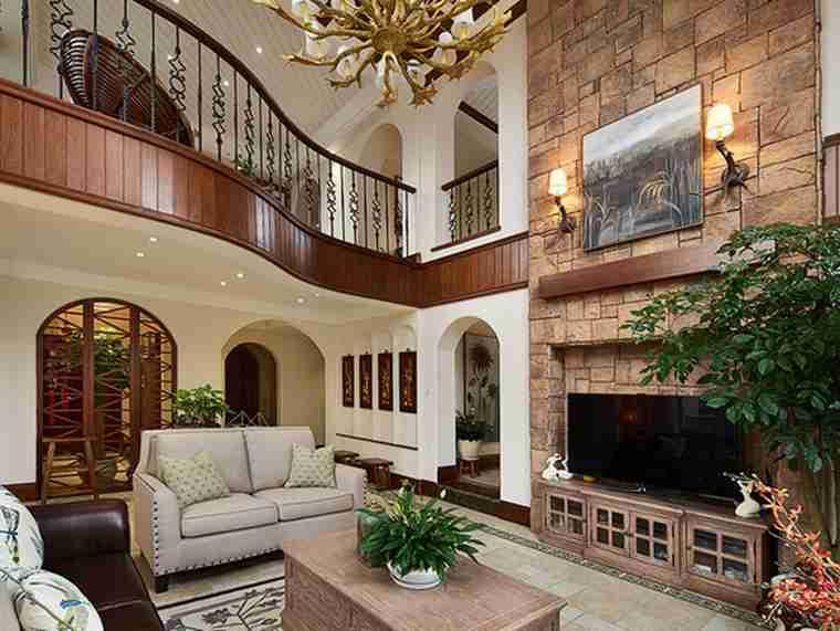 温馨有品味的别墅装修别墅客厅