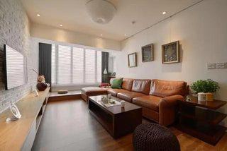 简约客厅装修沙发摆放图