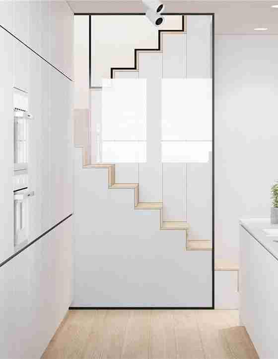 90平loft风格装修楼梯图片