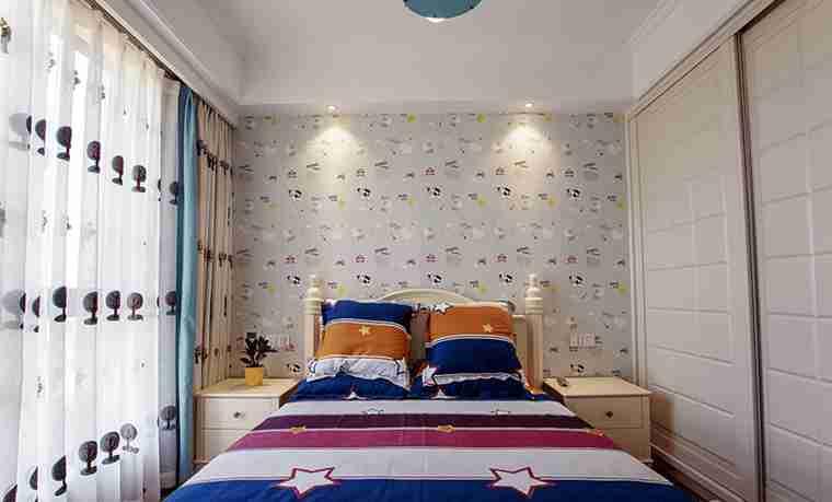 120平三居室装修次卧效果图
