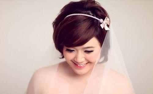 短发结婚当天新娘头图片 短发什么发型好看