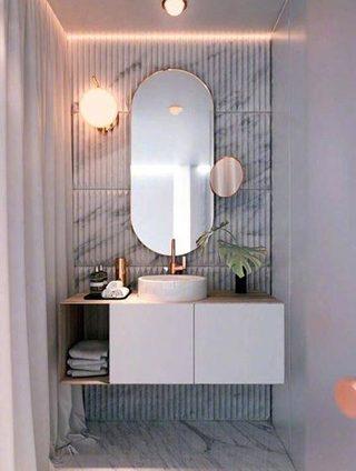 卫生间台盆柜装修设计图