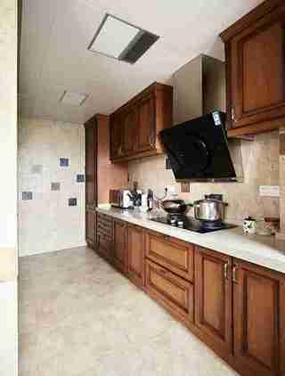 蓝调两居室装修厨房效果图