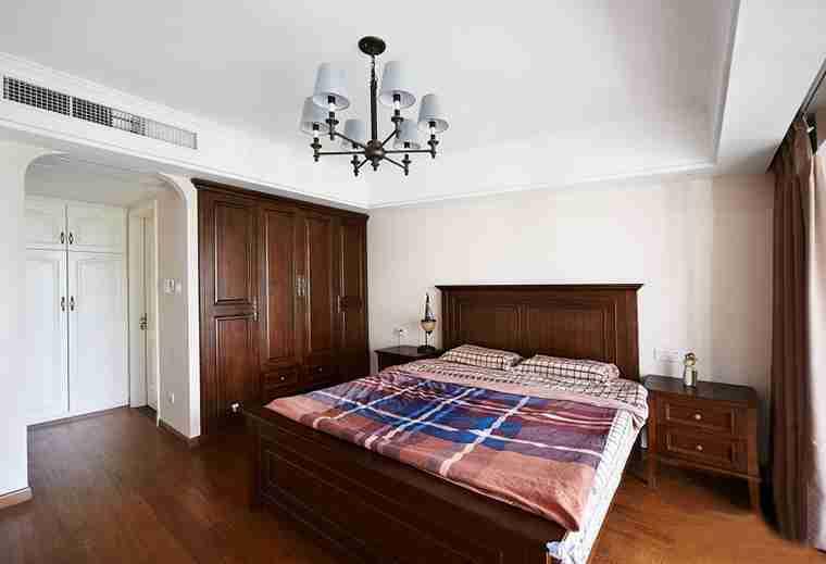 蓝调两居室装修卧室效果图