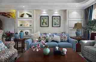 美式风格四房装修客厅效果图