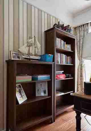 美式风格四房装修书柜