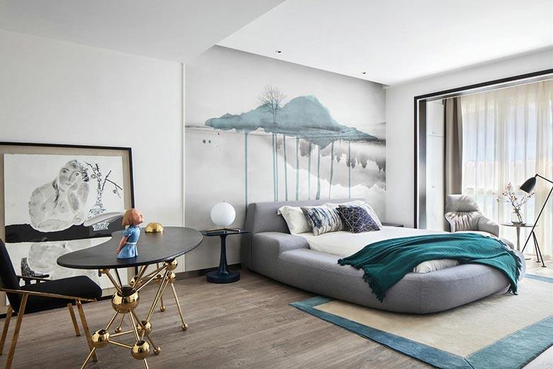 现代简约风格装修卧室图