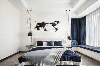 现代简约风格次卧室构造图