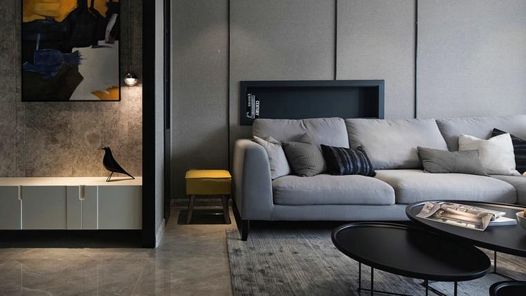120平简约风格装修布艺沙发