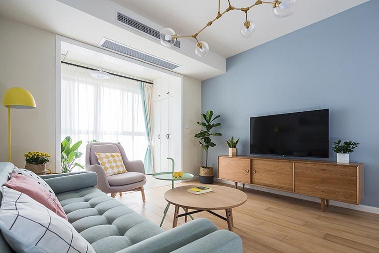 90平北欧风格装修客厅效果图