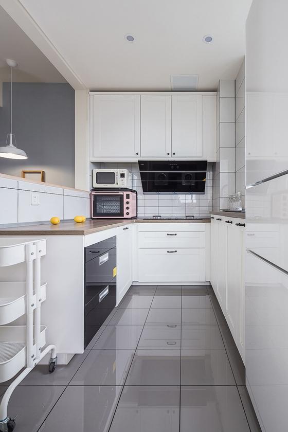 90平北欧风格装修厨房装潢图