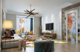 多彩客厅设计图
