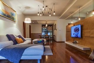 120平三居室装修电视背景墙图片