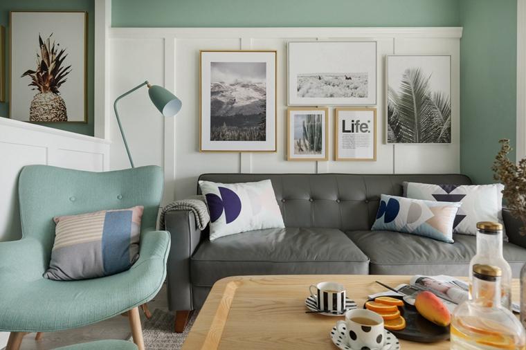 20万装90平三居室沙发背景墙