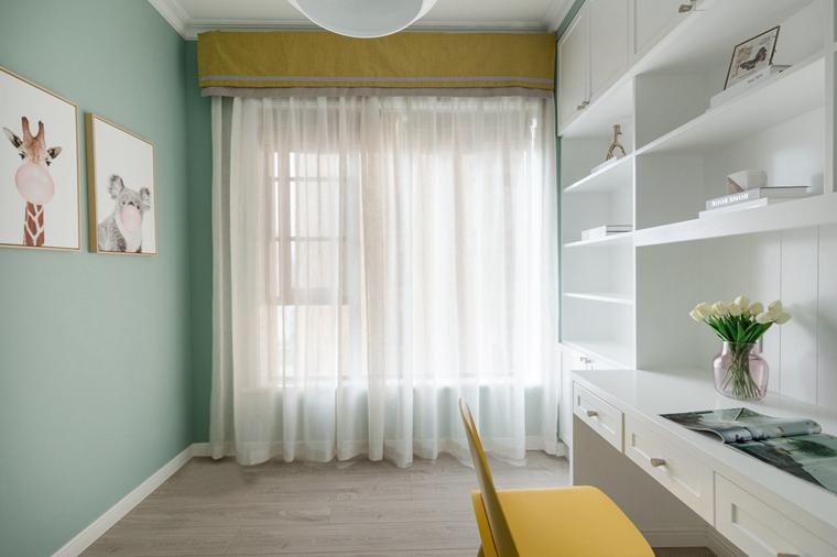 20万装90平三居室小书房图片