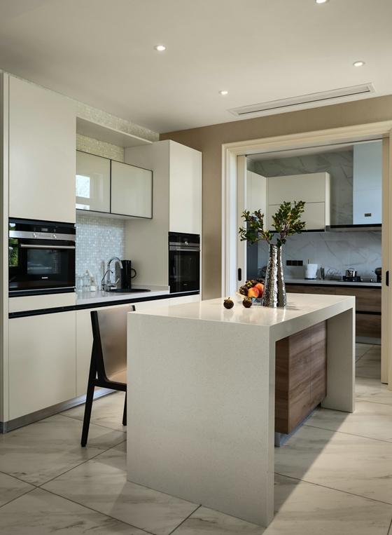 海派风格装修开放式厨房效果图