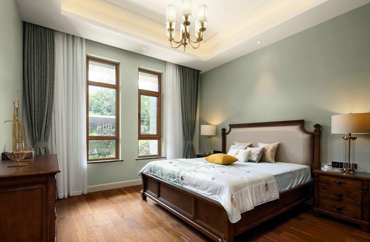 海派风格装修卧室效果图