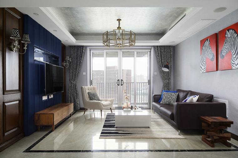 时尚两居室装修客厅效果图