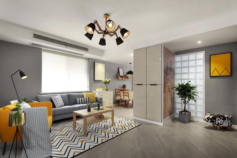 宜家风格公寓装修玄关设计图