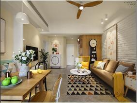 110平清新北欧风格装修效果图 遇见最美的家