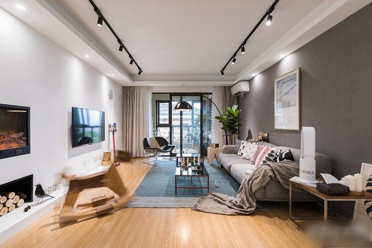 北欧风两居室装修客厅效果图
