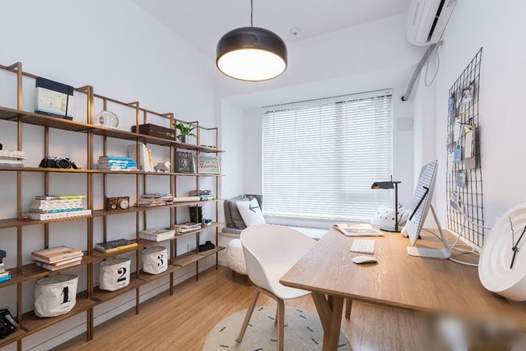 北欧风两居室装修书房装潢图