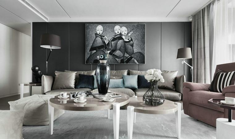 时尚三居室装修客厅效果图