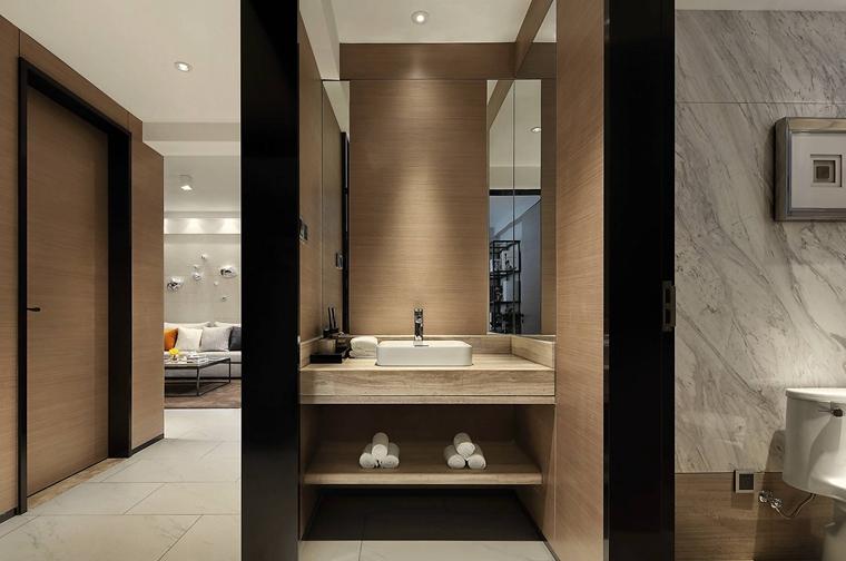 简单别致的白领公寓卫生间干湿分离