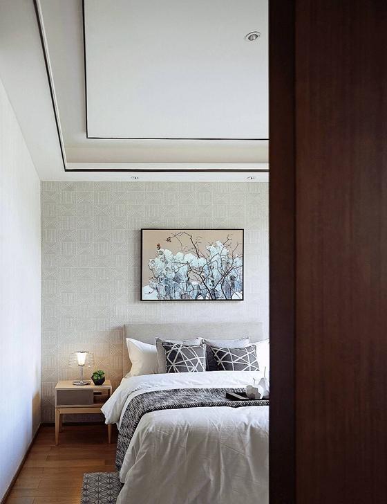 新中式装修让家更温馨卧室装潢图
