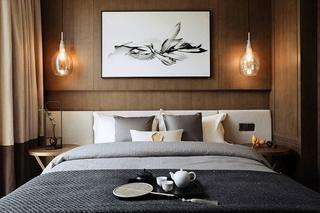 新中式装修让家更温馨卧室壁灯图片