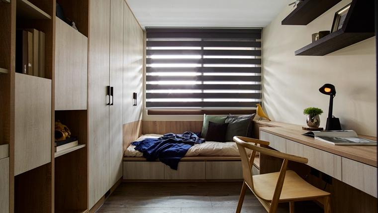 这套三居室装修很特别小卧室装修图